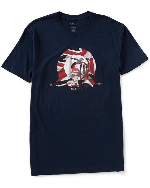Ben Sherman - Blue Classic Fit Short-sleeve Scooter Target Graphic T-shirt for Men - Lyst
