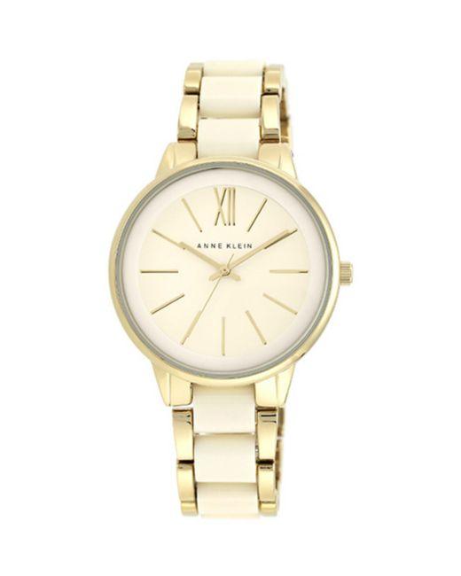 Anne Klein - Metallic Alloy And Plastic Bracelet Watch - Lyst