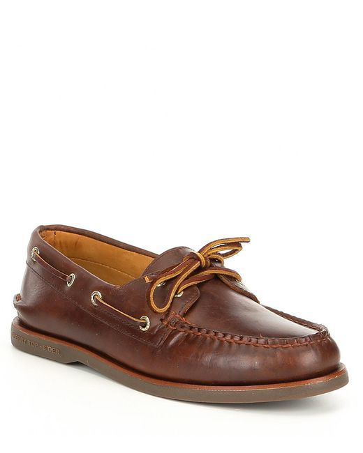 Sperry Top-Sider - Brown Men's Gold Authentic Original 2-eye Orleans Boat Shoes for Men - Lyst