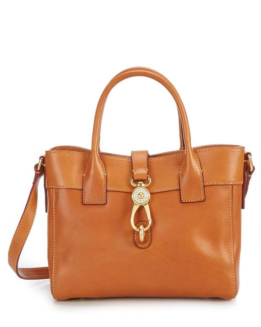 Dooney & Bourke - Natural Florentine Collection Amelie Leather Satchel - Lyst