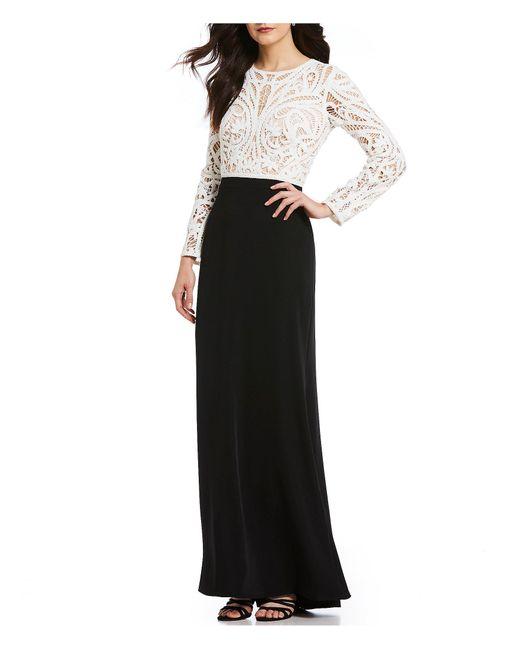 Tadashi Shoji - Black Lace Bodice Gown - Lyst