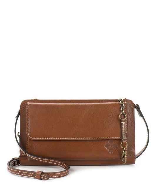 Patricia Nash Brown Heritage Collection Azario Organizer Crossbody Wallet Bag