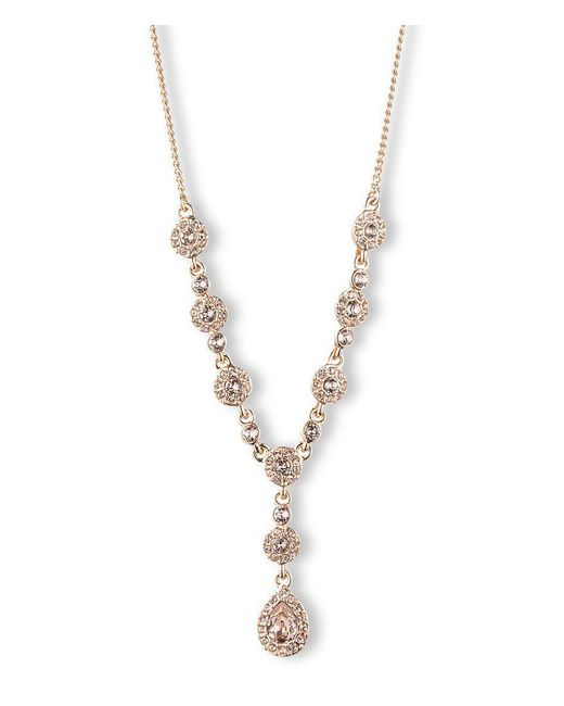 Givenchy | Pink Rose Gold Y-necklace | Lyst