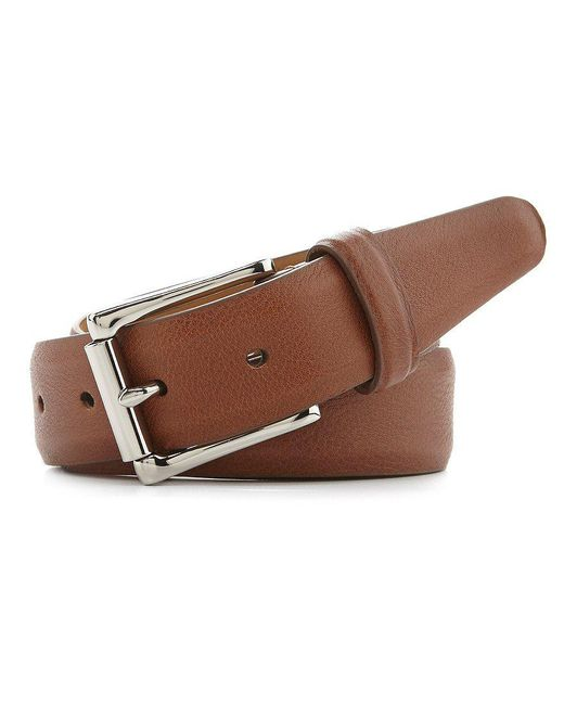 Cole Haan | Brown Milled Edge Leather Belt for Men | Lyst