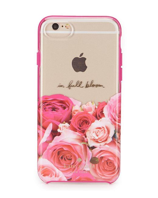 Kate Spade | Pink In Full Bloom Floral Iphone 7 Case | Lyst