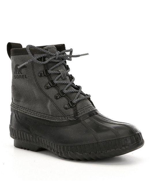 Sorel | Black Men's Cheyanne Ii Short Cvs Waterproof Boots for Men | Lyst