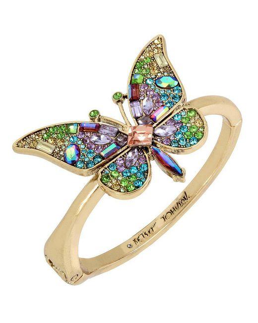 Betsey Johnson - Multicolor Butterfly Statement Bracelet - Lyst