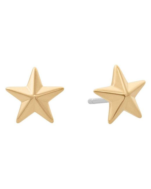 Michael Kors | Metallic Rose Gold-tone Star Stud Earrings | Lyst