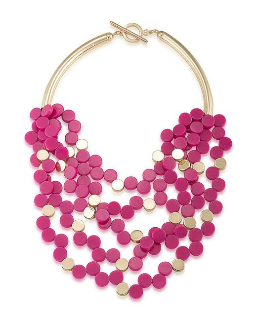 Trina Turk | Pink Indian Canyon Multi-strand Necklace | Lyst