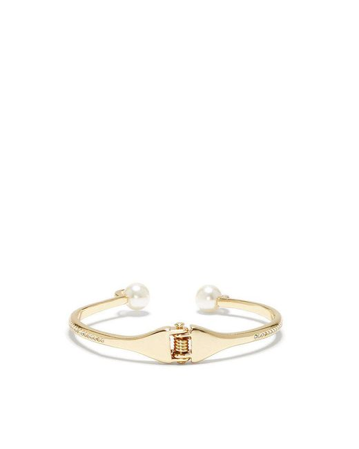 Vince Camuto | Metallic Gold-tone Ivory Pearl Hinge Cuff Bracelet | Lyst