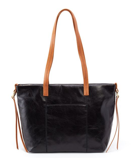 Hobo - Black Cecily Leather Colorblock Tote - Lyst