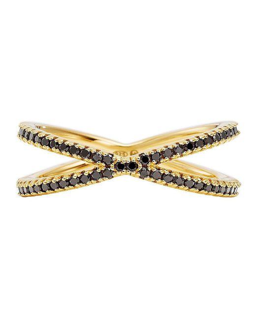 Michael Kors - Metallic Custom Kors Sterling Silver Onyx Nesting Ring - Lyst