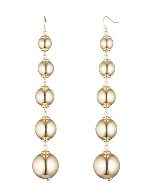 Trina Turk - Metallic Trina Beaded Drama Statement Earrings - Lyst