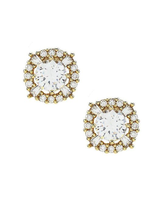 Anne Klein | Metallic Elevated Cubic Zirconia Stud Earrings | Lyst