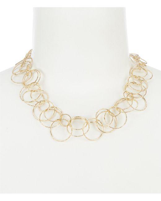 Anne Klein - Metallic Open Link Collar Necklace - Lyst