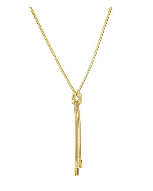 Kenneth Cole - Metallic Knot Y-shaped Necklace - Lyst