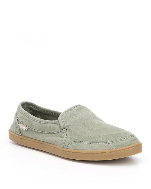 Sanuk - Green Pair O Dice Slip-on Shoes for Men - Lyst