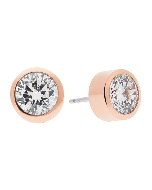 Michael Kors | Metallic Cubic Zirconia Stud Earrings | Lyst