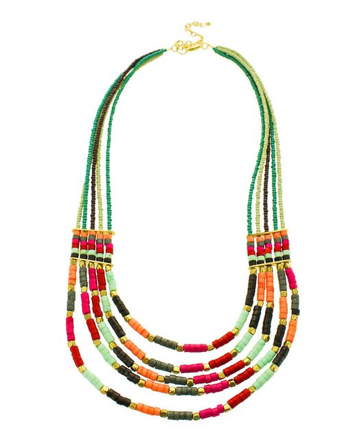 Panacea - Bright Multicolored Statement Necklace - Lyst