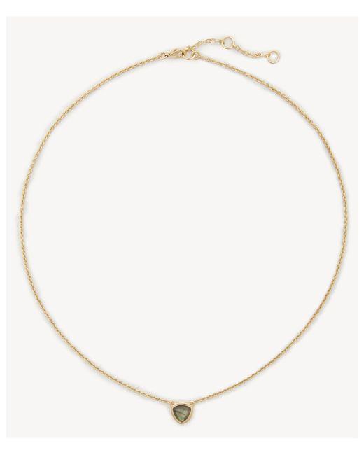 Sole Society - Metallic Stone Pendant Necklace - Lyst