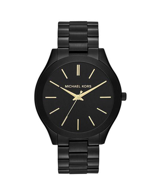Michael Kors - Black Slim Runway Stainless Steel 3 Hand Bracelet Watch for Men - Lyst