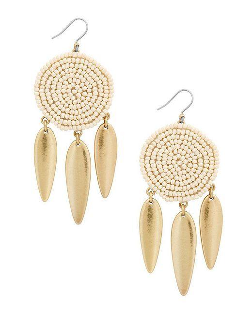 Lucky Brand - Metallic Gold-tone Beaded Drop Earrings - Lyst