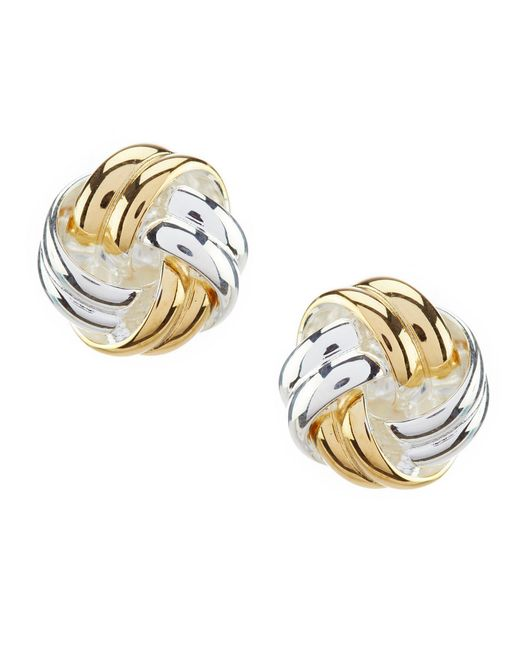 Argento Vivo - Metallic Knot Stud Earrings - Lyst