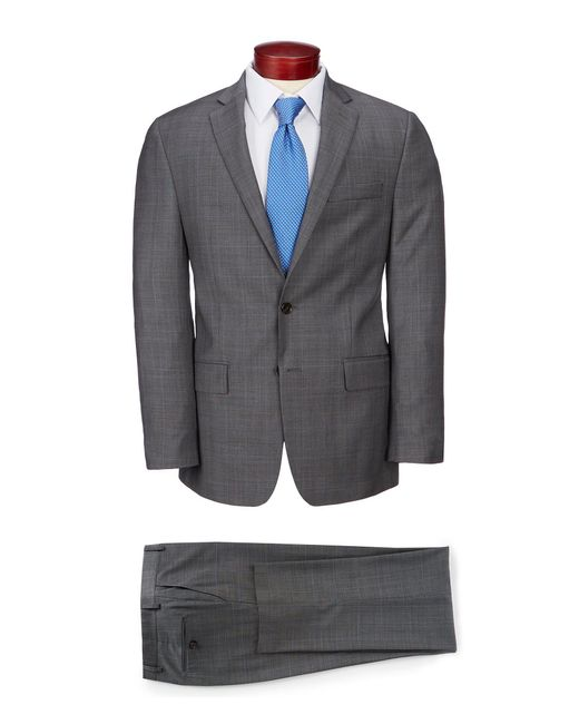 Ralph By Ralph Lauren Gray Classic Fit Neat Stretch Wool Suit for men