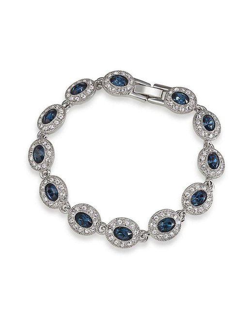 Carolee - Simply Blue Oval Pav Tennis Bracelet - Lyst