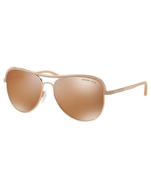 Michael Kors   Multicolor Vivianna Polarized Aviator Sunglasses   Lyst