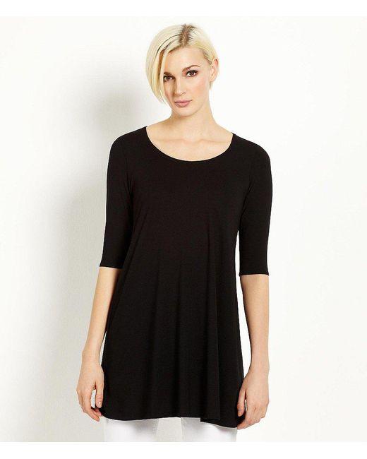 Eileen Fisher - Black Petite Jersey Tunic - Lyst