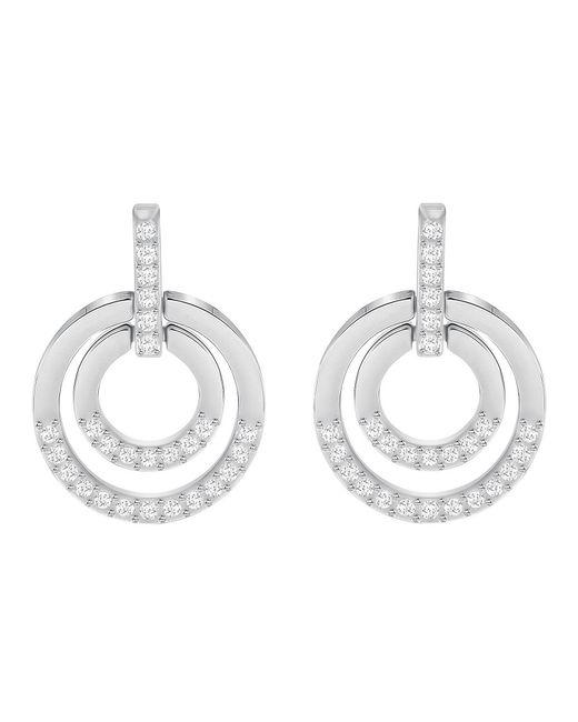 Swarovski - Metallic Circle Drop Earrings - Lyst