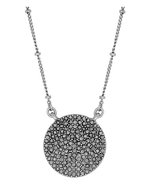 Lucky Brand - Metallic Necklace, Silver-tone Pave Crystal Necklace - Lyst
