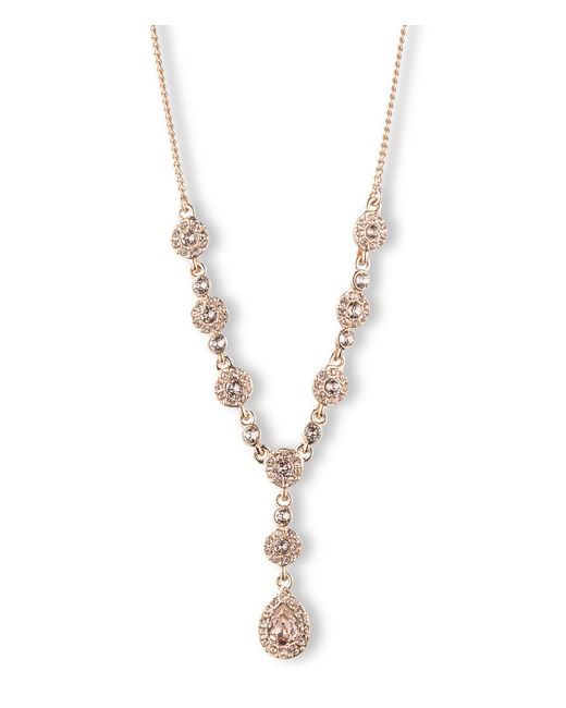 Givenchy - Pink Rose Gold Y-necklace - Lyst