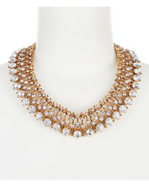 Belle By Badgley Mischka - Metallic Multi Round Faceted Collar Necklace for Men - Lyst