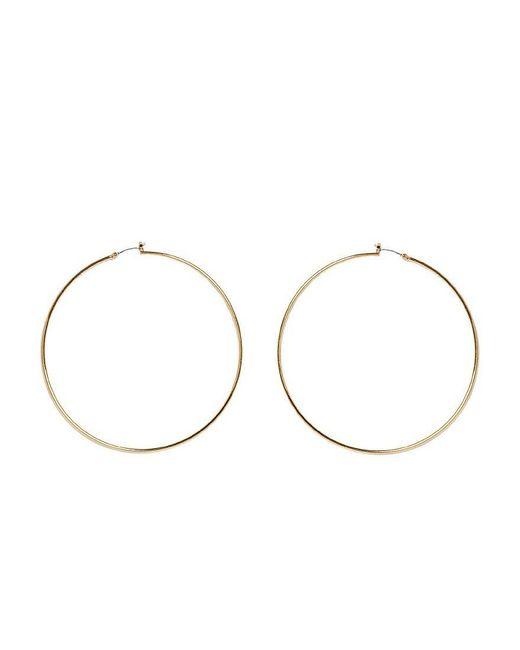 Vince Camuto | Metallic Large Thin Hoop Earrings | Lyst