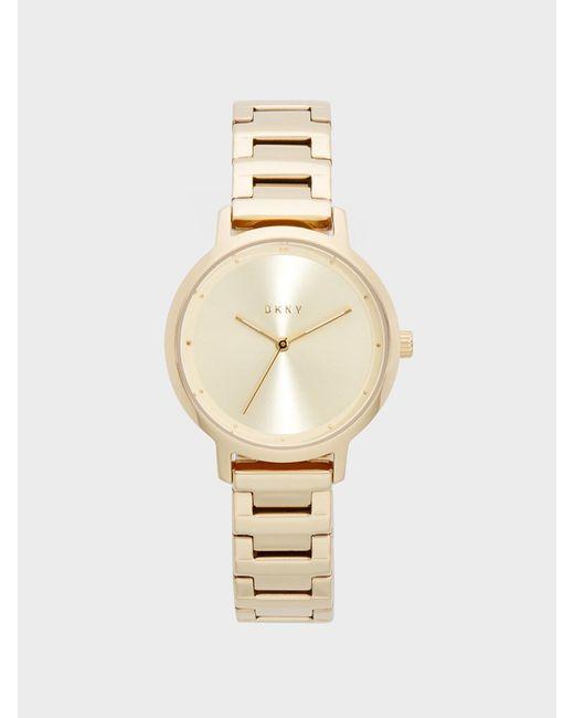 DKNY - Metallic Modernist Stainless Steel Gold-tone Watch - Lyst