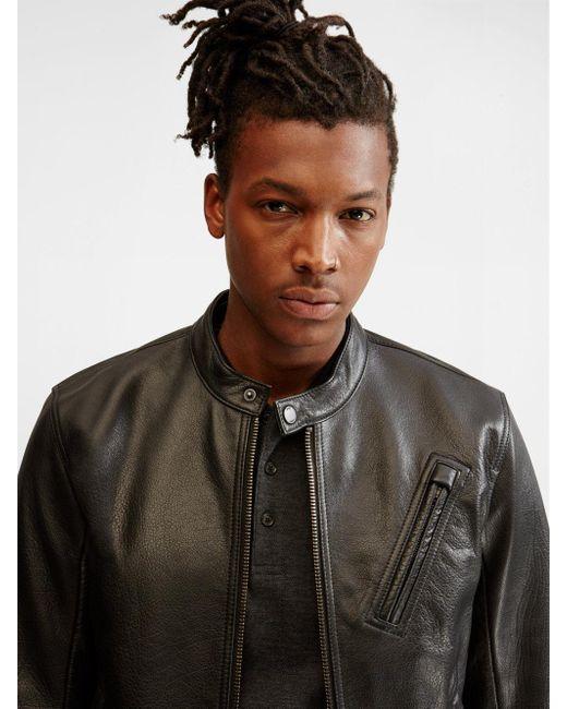 Dkny mens leather jacket