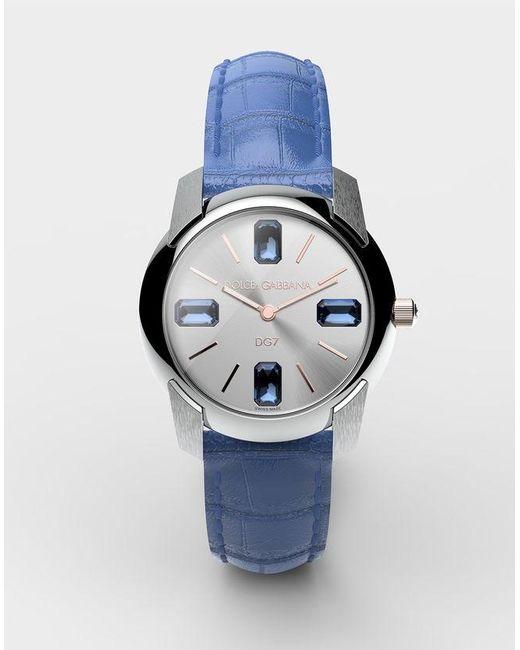 c8c035363e3a Lyst - Reloj Con Correa De Caimán Dolce   Gabbana de color Azul