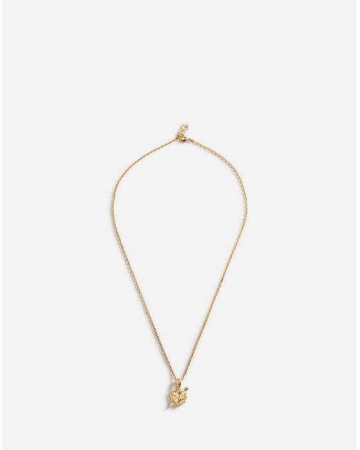 Dolce & Gabbana - Metallic Necklace With Heart Pendant - Lyst