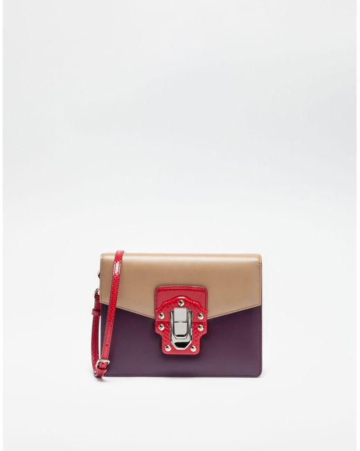 Dolce & Gabbana | Multicolor Lucia Shoulder Bag In Leather And Ayers | Lyst