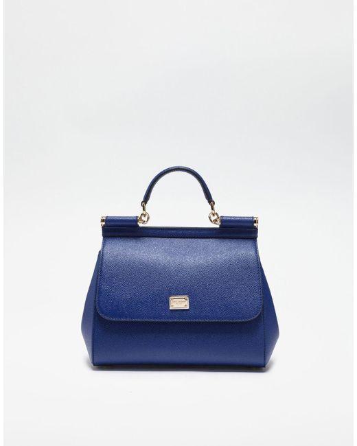 Dolce   Gabbana - Blue Medium Sicily Handbag In Dauphine Leather - Lyst ... ce9f65f28dac4