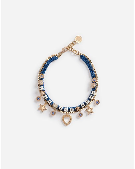 Dolce & Gabbana | Metallic Necklace With Decorative Details | Lyst