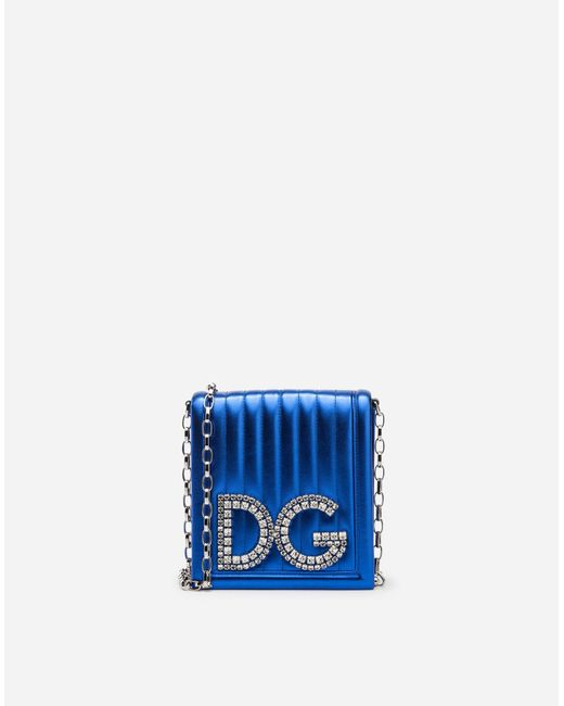 Dolce & Gabbana - Blue Dg Girls Cross-body Bag In Quilted Mordoré Nappa Leather - Lyst