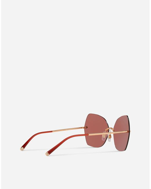 d5983e6d480 Lyst - Dolce   Gabbana Butterfly Sunglasses With Metal Details in Pink