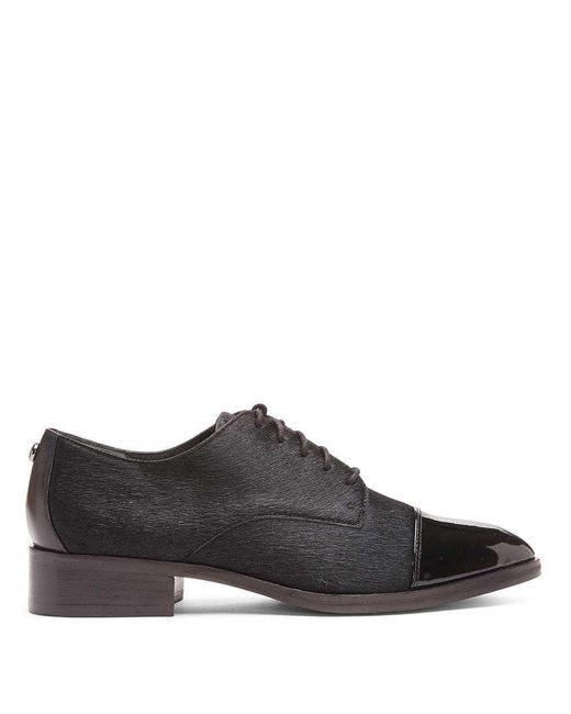 Donald J Pliner | Black Gea Haircalf And Patent Leather Oxford for Men | Lyst