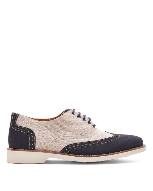 Donald J Pliner   Blue Canvas And Nubuck Leather Oxford for Men   Lyst