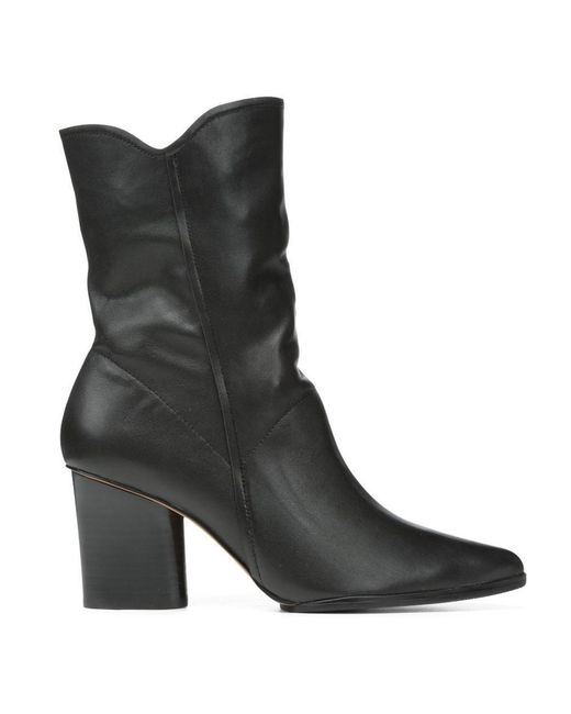 Donald J Pliner | Black Nappa Leather Bootie | Lyst