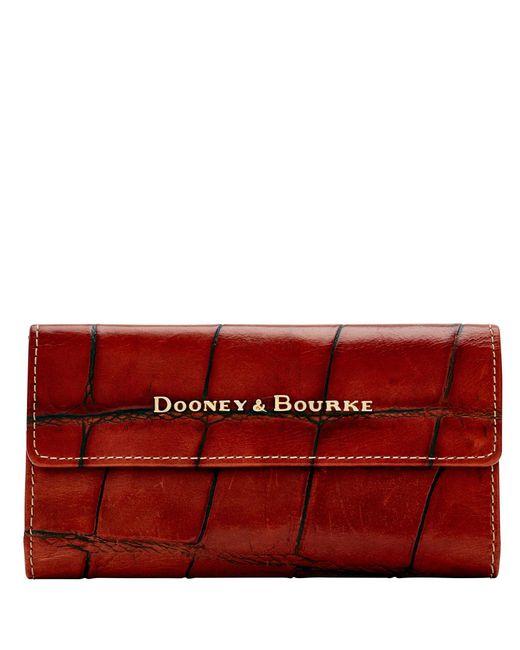 Dooney & Bourke - Red Denison Continental Clutch - Lyst