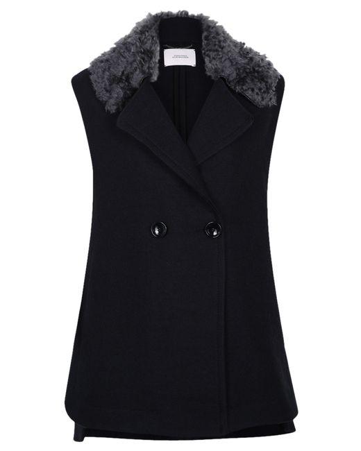 dorothee schumacher magnified volume vest in black lyst. Black Bedroom Furniture Sets. Home Design Ideas